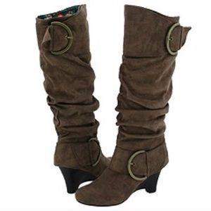 Naughty Monkey brown suede tall boots